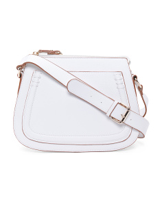 Top Zip Saddle Crossbody