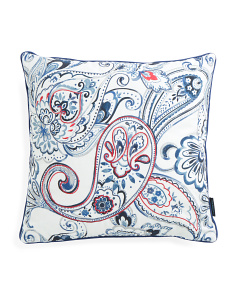 20x20 Watercolor Paisley Reversible Pillow