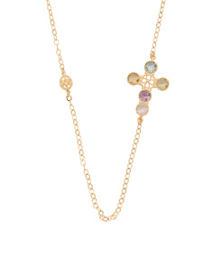 Made In Italy 14k Gold Cut Out Cross Necklace