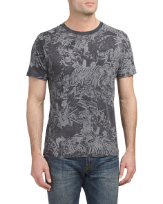 T Joe Aj Tiger Print T Shirt