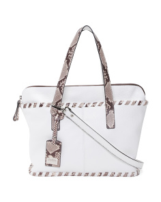 Made In Italy Leather Python Tote