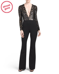 Made In Italy Sequin Bodice Jumpsuit