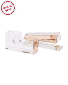Gold Acrylic Stapler And Tape Dispenser Set