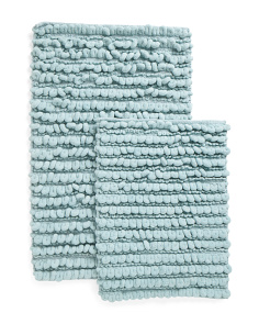Made In India 2pk Micro Pebbles Bath Rugs