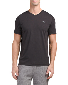 Essential V Neck Stripe T Shirt