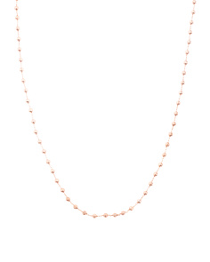 14k Rose Gold Rosary Rolo Necklace