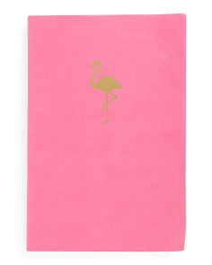 Flamingo Chunky Faux Leather Journal