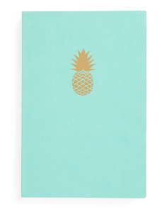 Pineapple Chunky Faux Leather Journal