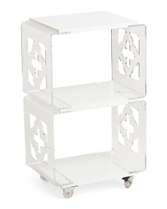 Clear Acrylic Rolling Cart