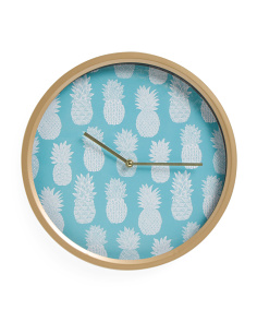 Pineapple Metal Wall Clock