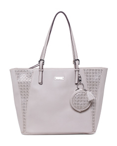 Perforated Tote With Metallic Underlay