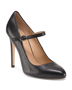 Mary Jane Leather Pumps
