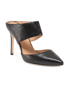 Pointy Toe Leather Mules