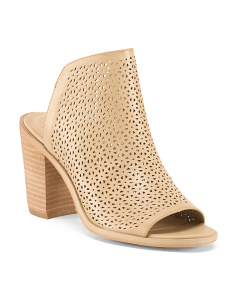 Perforated Slides With Block Heel