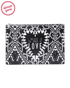 Power Of Love Printed Pouch