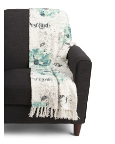 Floral Postcard Throw