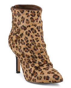 Leopard Haircalf Booties