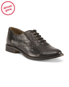 Made In Italy Laced Leather Oxfords