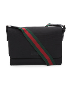 Made In Italy Grande Techo Canvas Messenger