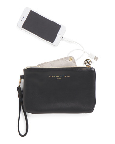 Wristlet With Portable Charger