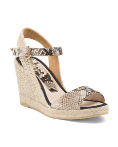 Made In Spain Leather Espadrille Wedges