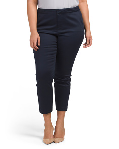 Plus Corynna Stretch Skinny Ankle Pants