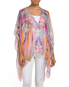 Made In Italy Silk Wings Fumato Top