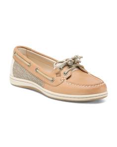 Lace Up Leather Boat Shoes