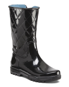 Waterproof Quilted Rain Boots