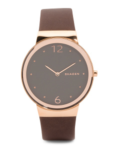 Women's Freja Leather Strap Watch