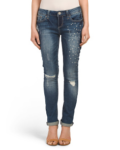Skinny Pearl Roll Jeans