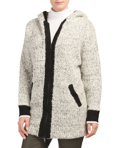 Adele Wool Blend Sweater Coat
