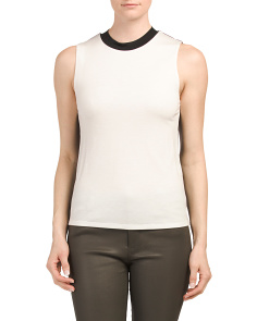 Beech Mock Neck Top