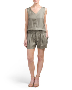 Made In USA Elsa Silk Romper