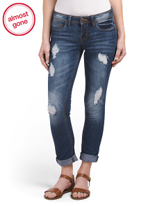Juniors Blueberry Boyfriend Jeans