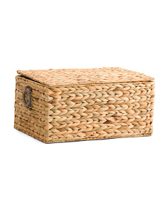 Natural Woven Storage Trunk
