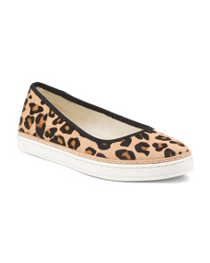 Hair Calf Leopard Slip On Sneakers