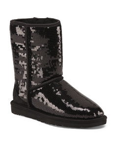 Sequined Classic Short Boots