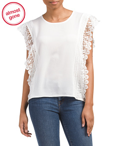 Lace And Crochet Detail Top