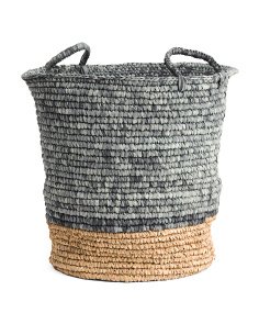 Large Tapered Basket With Natural Bottom