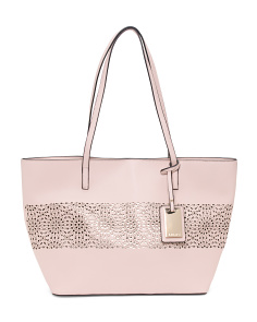 Large Tote With Floral Design