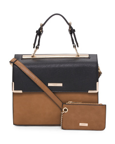 Tricolor Structured Satchel