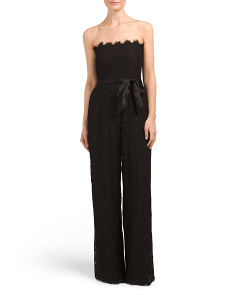 Tinley Strapless Lace Jumpsuit