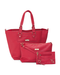 3pc Convertible Tote With Crossbody