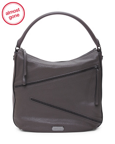 Serpentine Leather Hobo
