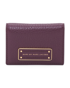 Too Hot To Handle Leather Card Wallet