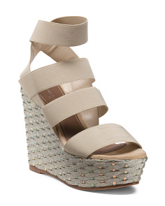Made In Spain Ankle Wrap Platform Wedges