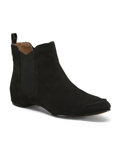 Side Gore Suede Booties