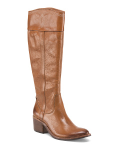 Leather High Shaft Riding Boots