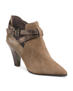 Suede Open Side Booties